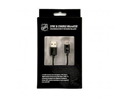 NHL LGX-11247 micro USB datový / dobíjecí kabel - New Jersey Devils