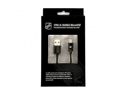 NHL LGX-11249 micro USB datový / dobíjecí kabel - New York Rangers