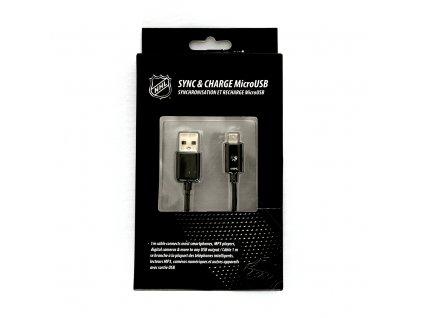 NHL LGX-11258 micro USB datový / dobíjecí kabel - San Jose Sharks