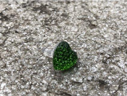 Krytka 3,5mm konektoru sluchátek,  zircon heart - zelená