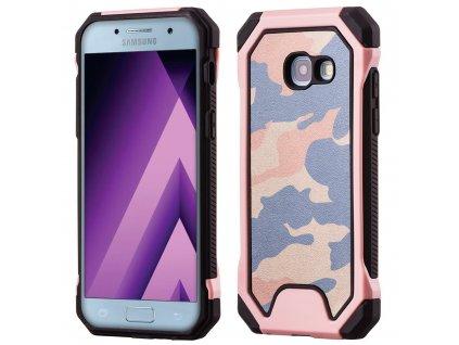 ARMORO Case odolné pouzdro Samsung A320 Galaxy A3 (2017) camo pink / růžová maskáč