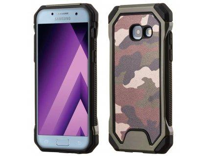 ARMORO Case odolné pouzdro Samsung A520 Galaxy A5 (2017) camo green / zelená maskáč