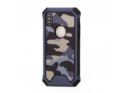 ARMORO Case odolné pouzdro pro Apple iPhone X / Xs camo blue / modrá maskáč