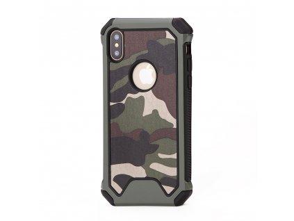 ARMORO Case odolné pouzdro pro Apple iPhone X / Xs camo green / zelená maskáč