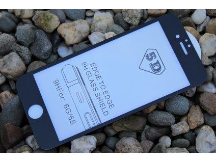 """9H / 5D ochranné tvrzené sklo pro iPhone 6 / 6S (4.7""""), černé 5900495662415"""