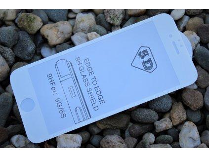 """9H / 5D ochranné tvrzené sklo pro iPhone 6 / 6S (4.7""""), bílé 5900495662408"""