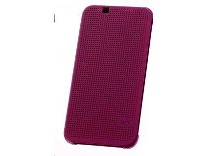 Pouzdro HTC HC M130 Dot View fialové Desire 510