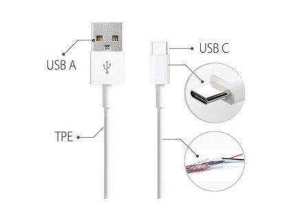 Huawei AP81 USB-C datový kabel white / bílý (bulk)