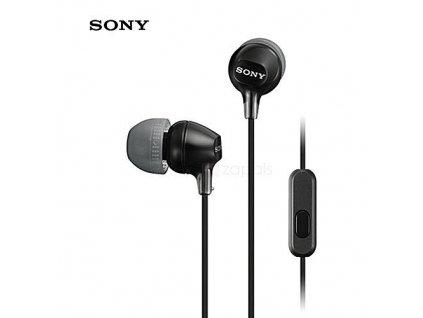 Sony MDR-EX15AP stereo headset sluchátka černé
