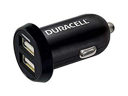 Duracell DR5015A nabíječka do auta Dual USB černá 2,4A + 1A