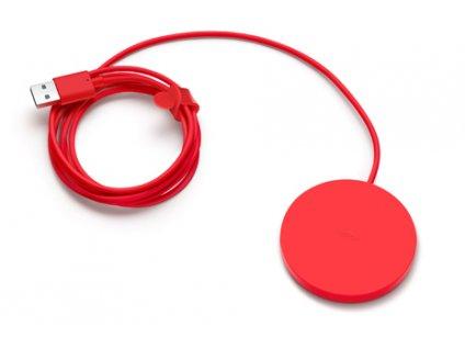 NOKIA DT-601 bezdrátová nabíječka (bulk) red / červená 1,7A