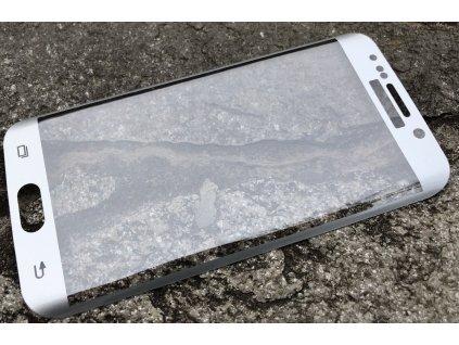 9H ochranné tvrzené sklo pro Samsung G925 Galaxy S6 Edge ZAKŘIVENÉ stříbrné 5900495609281