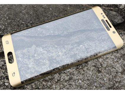 9H ochranné tvrzené sklo pro Samsung G928 Galaxy S6 Edge+, ZAKŘIVENÉ zlaté 5901836536952