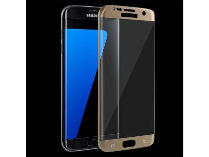 9H ochranné tvrzené sklo pro Samsung G935 Galaxy S7 Edge zahnuté zlaté 5900495591807