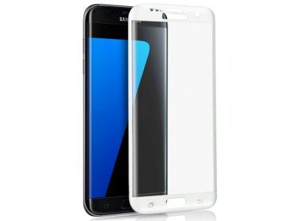 9H ochranné tvrzené sklo pro Samsung G935 Galaxy S7 Edge zahnuté bílé 5900495591791