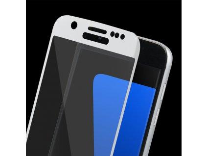 9H ochranné tvrzené sklo pro Samsung G930 Galaxy S7 zahnuté bílé 5900495591760