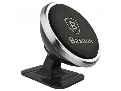BASEUS 360 Degree držák na palubní desku / sklo - magnetický, silver