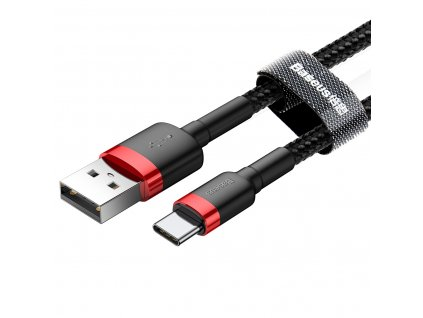 Baseus Cafule USB kabel - Micro USB-C / 0,5m / 3A red-black