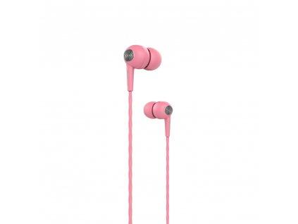 Devia Kintone sluchátka s mikrofonem růžové