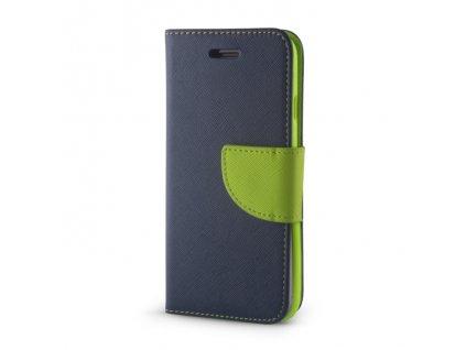 Smart Book pouzdro Samsung J730 Galaxy J7 (2017) modrá / zelená (FAN EDITION)