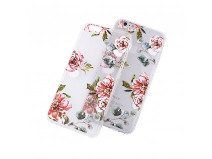 Pouzdro Fashion Flowers pro iPhone 5 / 5S / SE transparentní