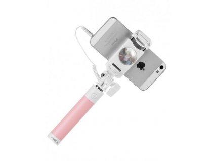 Proda PP-P6 selfie tyč skabelem růžová