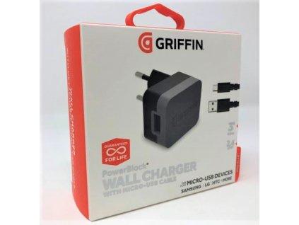 Nabíječka Griffin GE43017 Qualcomm Quick Cherge + micro USB kabel 2,4A / 15W