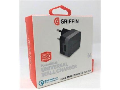 Nabíječka Griffin GE43020 Qualcomm Quick Charge 2,4A / 15W s výstupem USB