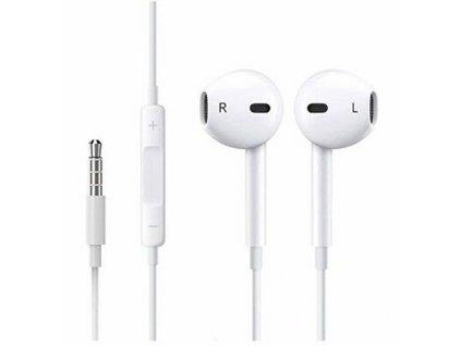 Apple MD827ZM/A EarPods sluchátka s ovládáním iPhone 5/5C/5S, 6/6S, 6+/6S+ (volně,sáček)