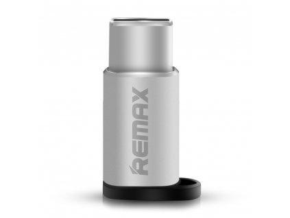 Remax adaptér RA-USB1 Micro USB - USB-C stříbrný