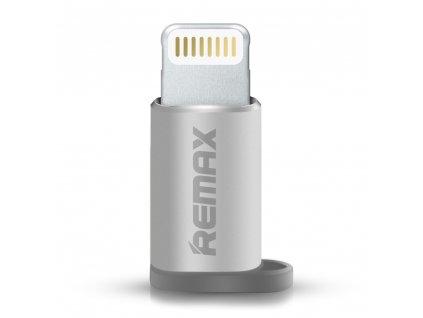 Remax adaptér Micro USB - iPhone Lightning stříbrný