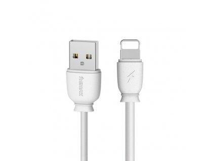 REMAX Suji RC-134i USB kabel pro iPhone 5/6/7/8/X lightning bílý, 2,1A