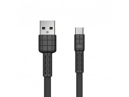 REMAX RC-116a Armor series USB datový / nabíjecí kabel Micro USB-C černý 2,4A / 5V