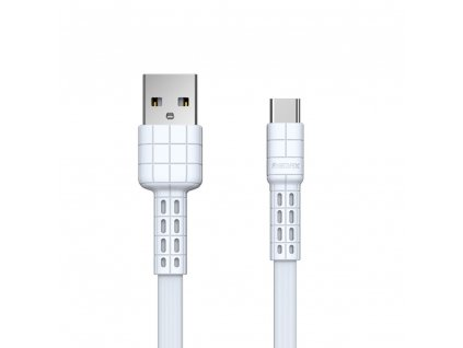 REMAX RC-116a Armor series USB datový / nabíjecí kabel Micro USB-C bílý 2,4A / 5V