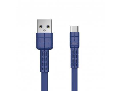 REMAX RC-116a Armor series USB datový / nabíjecí kabel Micro USB-C modrý 2,4A / 5V
