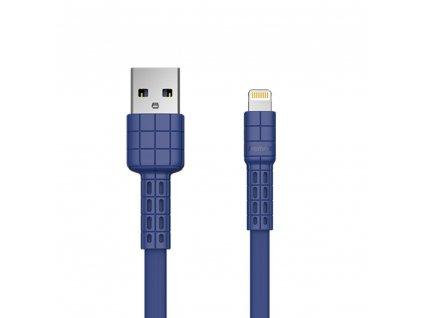 REMAX RC-116i Armor series USB datový / nabíjecí kabel iPhone Lightning modrý 2,4A / 5V
