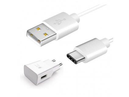 SAMSUNG EP-TA200EWE nabíječka + kabel USB-C bílá (bulk) 2000mA