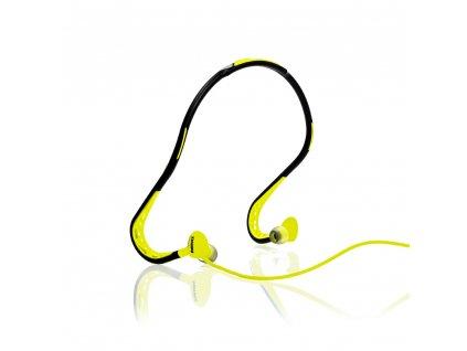 Remax RM-S15 sportovní handsfree sluchátka 3,5mm jack žluté