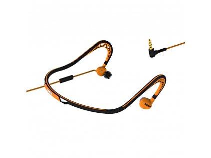 Remax RM-S15 sportovní handsfree sluchátka 3,5mm jack oranžové