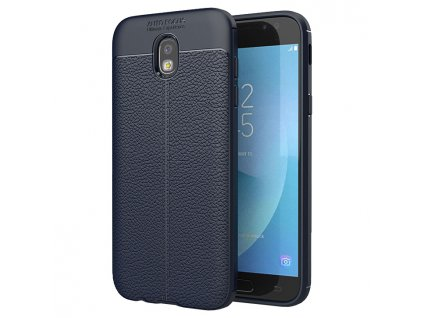 Pouzdro Litchi Case pro Samsung J730 Galaxy J7 2017 modré