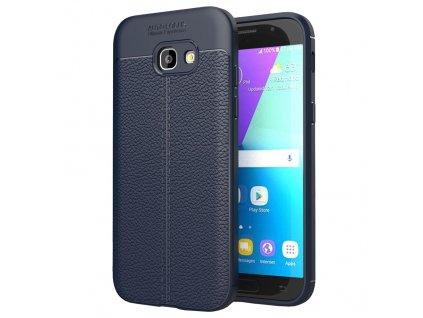 Pouzdro Litchi Case pro Samsung A520 Galaxy A5 2017 modré