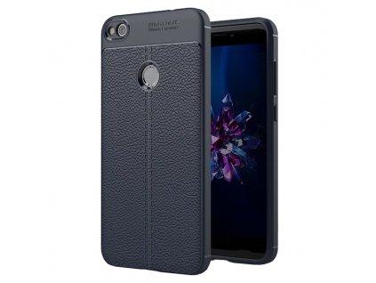 Pouzdro Litchi Case pro Huawei P8 Lite 2017 / P9 Lite 2017 modré