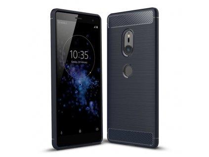 Pouzdro Carbon Case pro Sony Xperia XZ2 modré