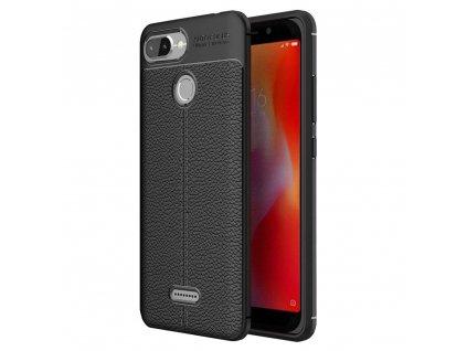 Pouzdro Litchi Case pro Xiaomi RedMi 6 černé