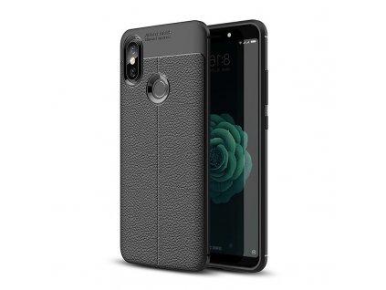 Pouzdro Litchi Case pro Xiaomi Mi 6X / Mi A2 černé