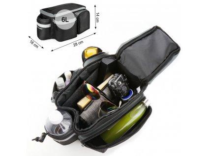 Wozinsky taška na kolo 6l černá
