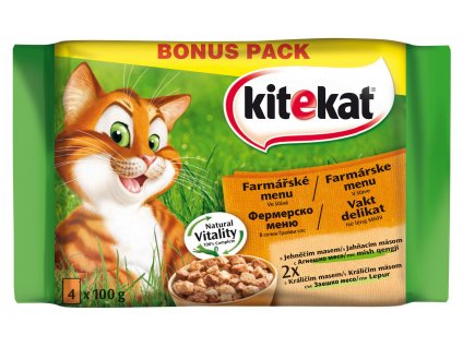 Kitekat kaps.farmař. Menu 4pack 400g