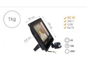 LED 60 W s čidlem 1