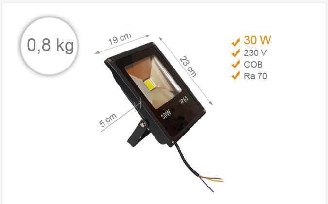 Jihočeská reklama LED REFLEKTOR (Černý) - 30 W