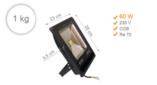 Jihočeská reklama LED REFLEKTOR (Černý) - 60 W